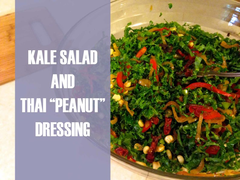 kale salad and thai peanut dressing chiropractor in holland