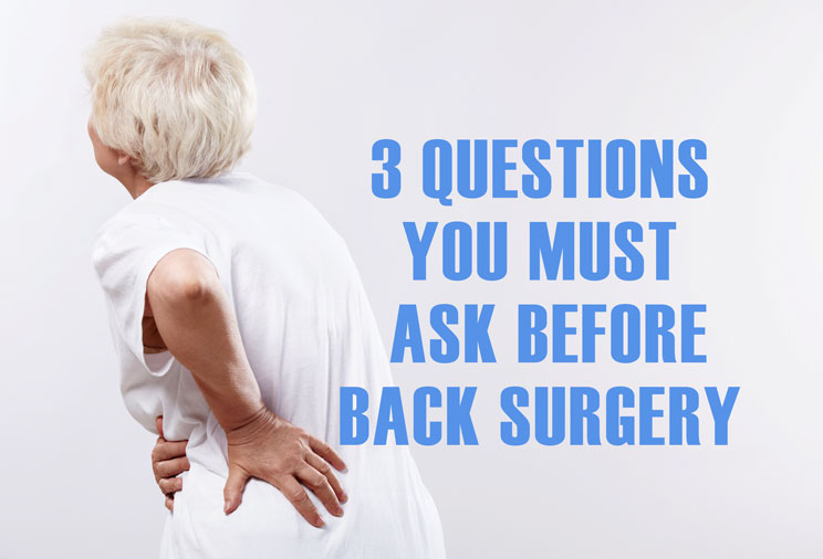 3 question to ask before back surgery chiropractor in holland mi